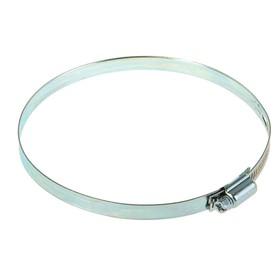 Хомут червячный NOVA, сквозная просечка, диаметр 120- 140  мм, ширина 10 мм, оцинкованный