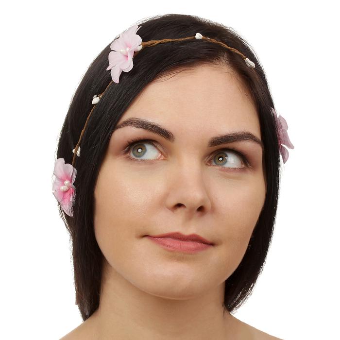 """Декор для волос, вплетаемый """"Розовый рай"""""""