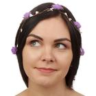 """Декор для волос, вплетаемый """"Фиолетовые розы"""""""
