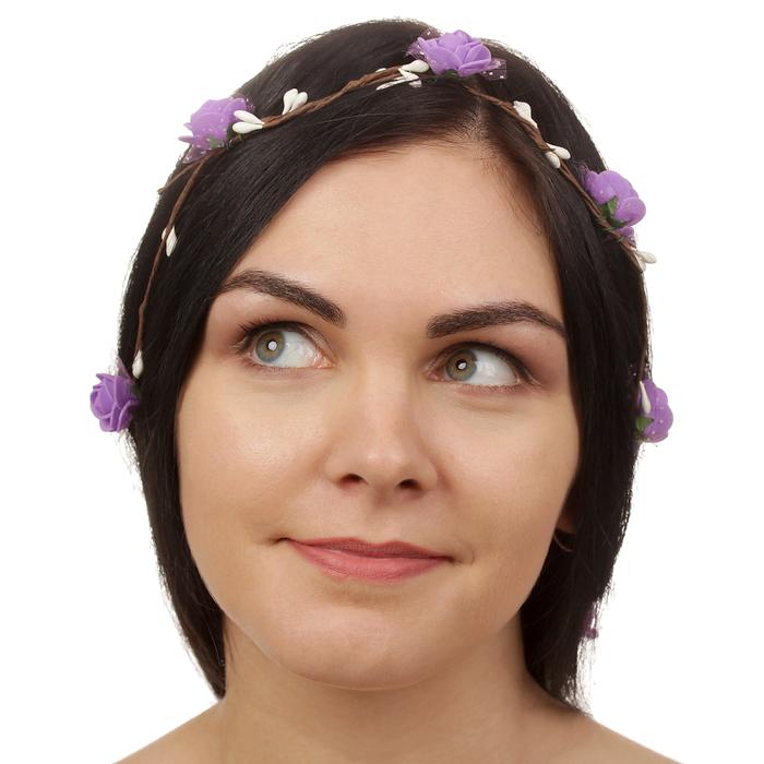 Декор для волос, вплетаемый ''Фиолетовые розы''   2794071