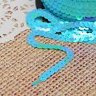 Лента декоративная пайетки, перламутр, ширина 6мм, 91±1м, №57, цвет голубой