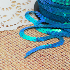 Лента декоративная пайетки, перламутр, ширина 6мм, 91±1м, №58, цвет голубой