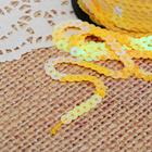 Лента декоративная пайетки, перламутр, ширина 6мм, 91±1м, №52, цвет жёлтый