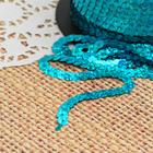Лента декоративная пайетки, голография, ширина 6мм, 91±1м, B14, цвет морская волна