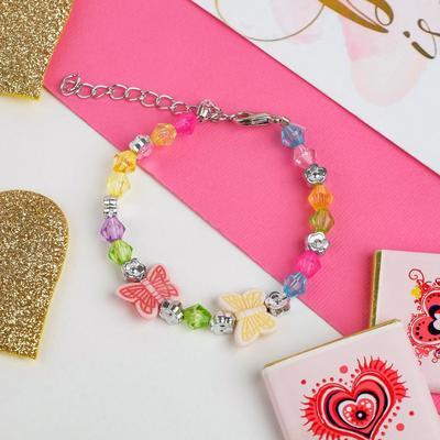 """Bracelet child """"Vibracula"""" butterfly two color MIX"""