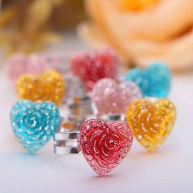 Кольцо детское 'Выбражулька' цветущая роза, безразмерное, цвет МИКС Ош