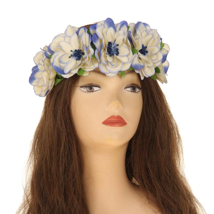 Повязка на голову ''Розы'', цвет фиалковый   2807476