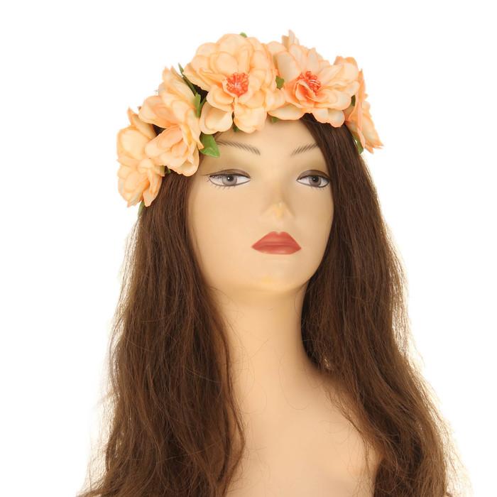Повязка на голову ''Розы'', цвет оранжевый   2807477