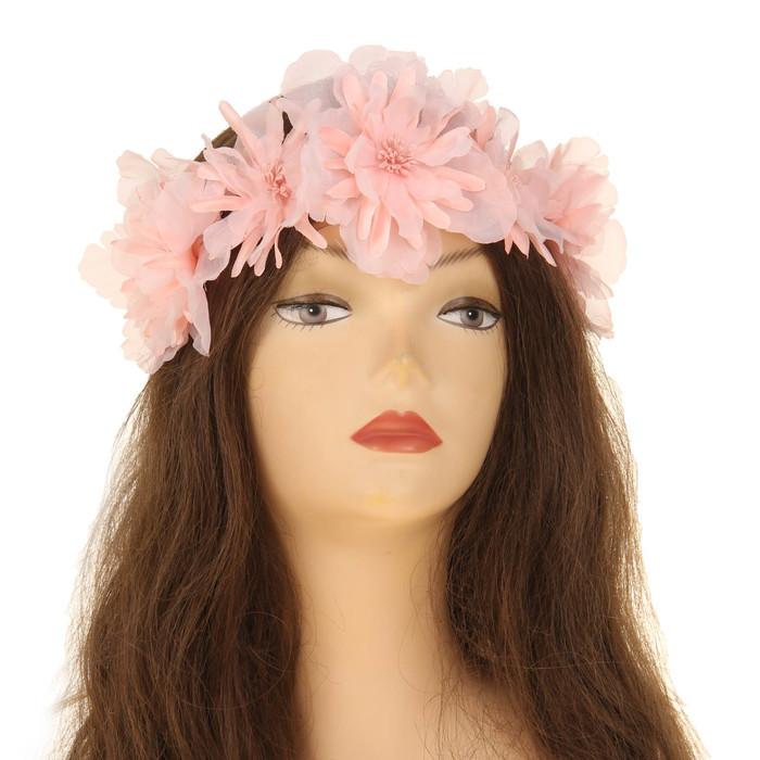 Повязка на голову ''Цветочная фантазия'', цвет бледно-розовый   2807487