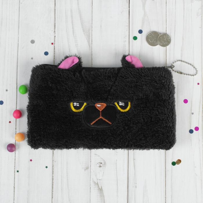 Мягкий пенал «Чёрный котик»