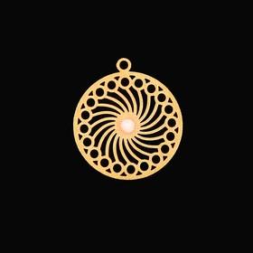 Декор для творчества металл 'Бесконечность' золото 1,5х1,5 см Ош