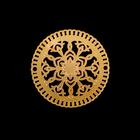 """Декор для творчества металл """"Восточный рисунок"""" золото 2,2х2,2 см"""