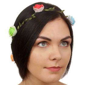 Декор для волос, вплетаемый 'Разноцветные розочки' Ош