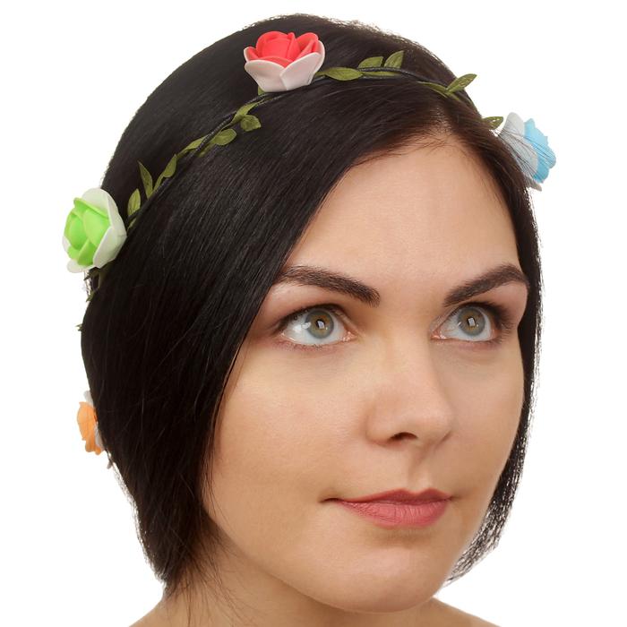 """Декор для волос, вплетаемый """"Разноцветные розочки"""""""