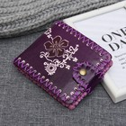 Female purse, 3 sections for cards, color purple