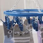 Сушилка для белья подвесная круглая, 20 прищепок, цвет МИКС - фото 4635034