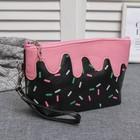 """Косметичка-сумочка на молнии """"Лакомство"""", 1 отдел, с ручкой, цвет чёрный"""