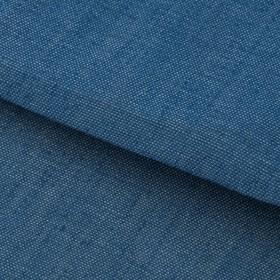 Ткань для пэчворка мягкая джинса голубая, 50 × 50 см