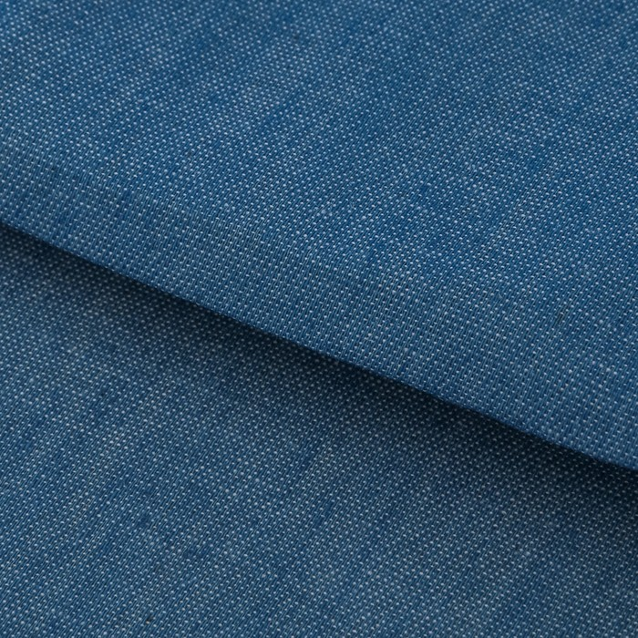 Ткань для пэчворка мягкая джинса голубая, 50 × 50 см - фото 726481756