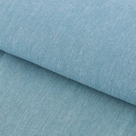 Ткань для пэчворка мягкая джинса бирюзовая, 50 х 50 см