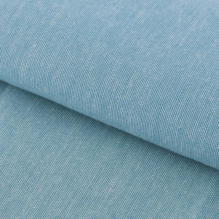 Ткань для пэчворка мягкая джинса бирюзовая, 47 х 50 см