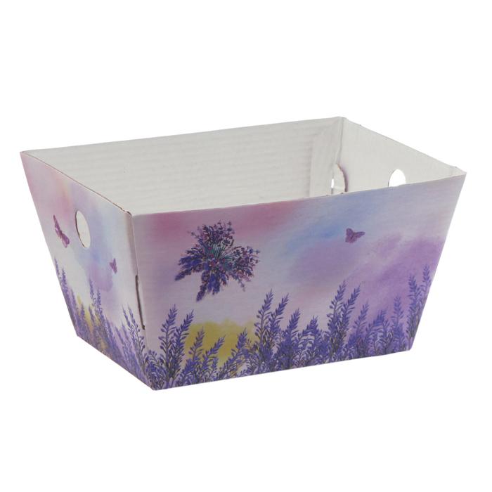 Складная коробка–трапеция «Лавандовая мечта», 19.5 × 15 × 10.5 см