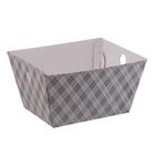 Складная коробка–трапеция «Клетка», 19,5 х 15 х 10,5 см