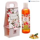 """Подарочный гель для душа """"8 Марта - праздник цветов и улыбок"""" с ароматом грейпфрута, 250 мл"""