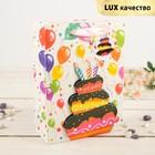 """Пакет подарочный """"Праздничный торт"""", 26 х 10 х 32 см"""