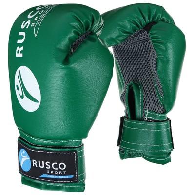 Перчатки боксерские RUSCO SPORT детские кож.зам. 4 Oz зеленые