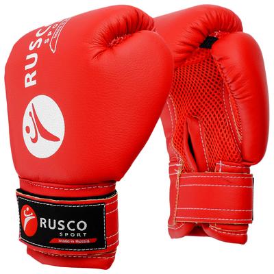 Перчатки боксерские RUSCO SPORT детские кож.зам. 4 Oz цвет красный