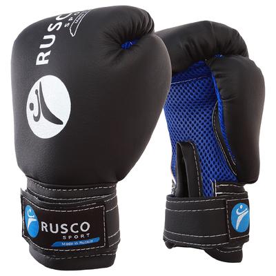 Перчатки боксерские RUSCO SPORT детские кож.зам. 4 Oz черные