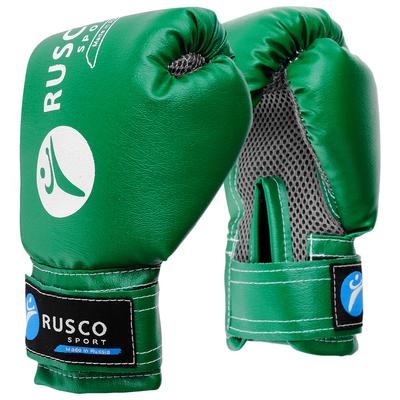 Перчатки боксерские RUSCO SPORT детские кож.зам. 6 Oz зеленые