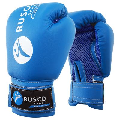 Перчатки боксерские RUSCO SPORT детские кож.зам. 6 Oz синие