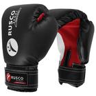 Перчатки боксерские RUSCO SPORT кож.зам. 10 Oz черные