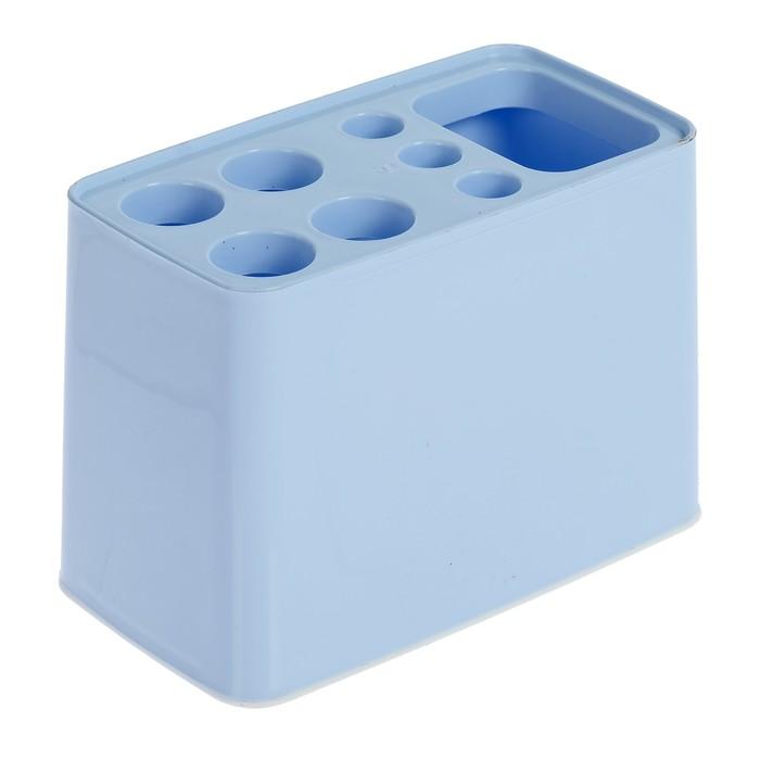"""Подставка для зубных щёток """"Дебют"""", цвет голубой"""