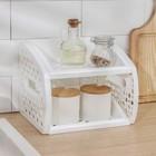 Этажерка настольная 2-х ярусная, цвет розовый