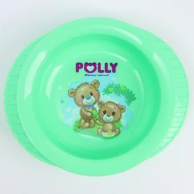 Тарелка детская глубокая на присоске Polly, рисунок МИКС