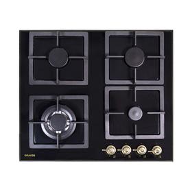 Варочная поверхность Graude GSK 60.0 S, газовая, 4 конфорки, черное стекло