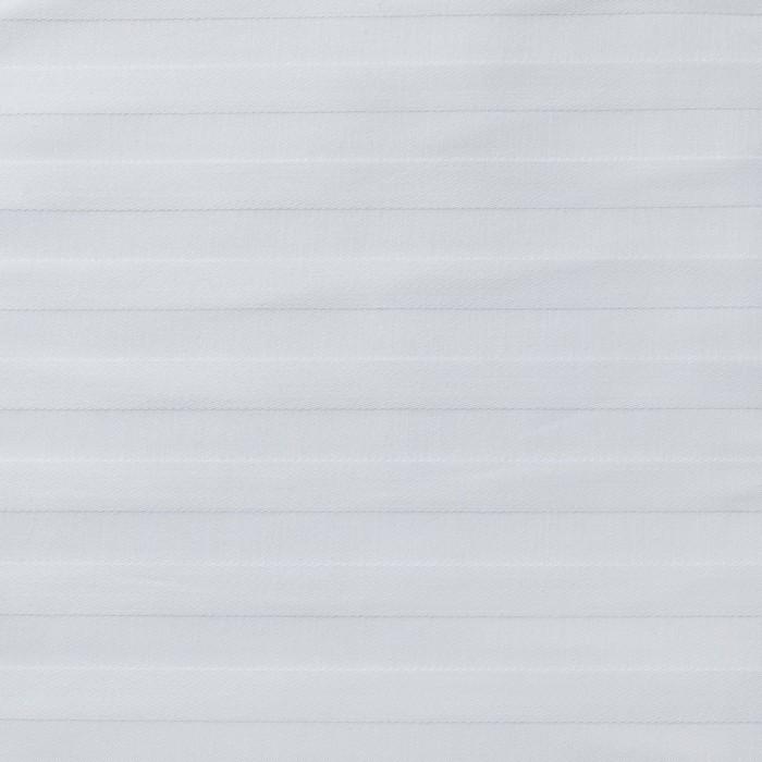 Ткань отбеленная Страйп-сатин (полоска 1х1 см) ш. 220 см, пл. 135 г/м², хлопок 100%