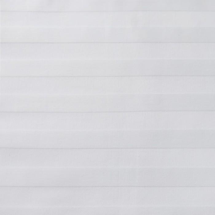 Ткань отбеленная Страйп-сатин (полоска 2х2 см) ш. 220 см, пл. 135 г/м², хлопок 100%