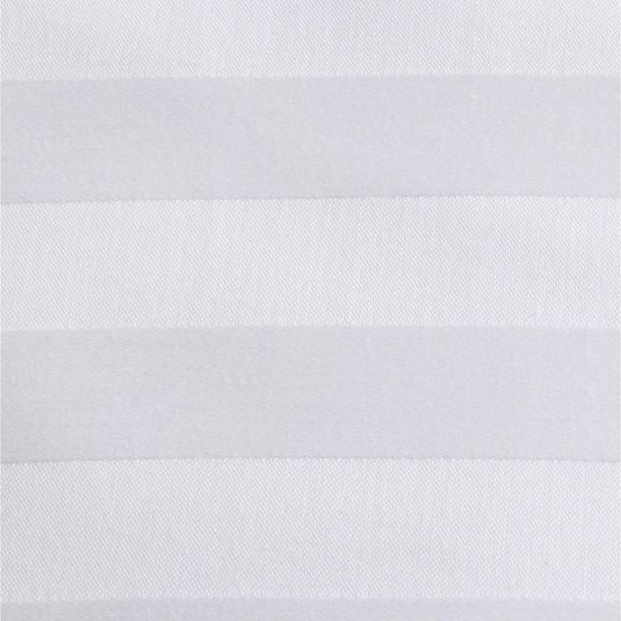 Ткань отбеленная Страйп-сатин (полоска 3х3 см) ш. 220 см, пл. 135 г/м², хлопок 100%