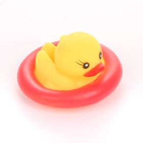Игрушка для ванны «Утки в круге», цвета МИКС Ош