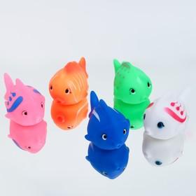 Резиновая игрушка для игры в ванной  «Чудо-рыбка», цвет МИКС