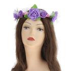 """Hawaiian glowing wreath """"Purple roses"""""""