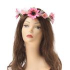 """Hawaiian glowing wreath """"Pink meadow"""""""