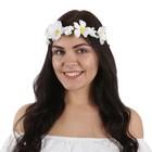 "Гавайская повязка ""Цветы"", цвет белый"