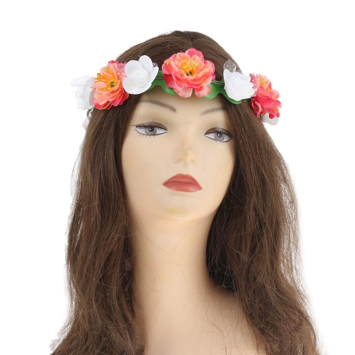 """Гавайский ободок """"Цветы"""""""