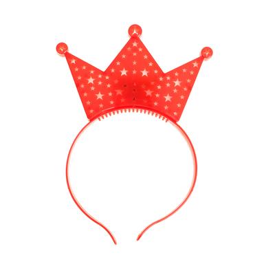"""Карнавальный ободок """"Корона"""" световой, цвет красный"""