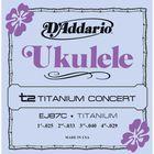 Струны для концертного укулеле D'Addario EJ87C Titanium